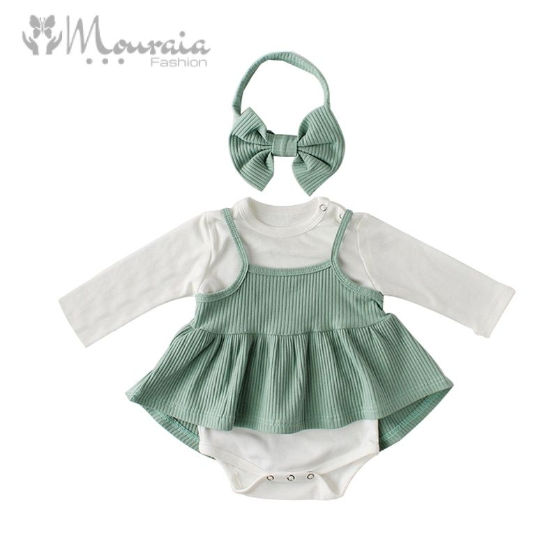 Princess Baby Girl Romper Long Sleeve Jumpsuit Toddler Baby Girl Clothes for Birthday Baby Onesie Cotton Newborn Clothes 1 Set