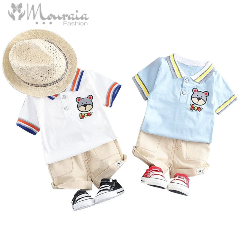 New Baby Boy Summer Clothes T Shirt Shorts Suit Kids Clothes Baby Tracksuit Set Baby Boys Clothing Toddler Boy Outfit