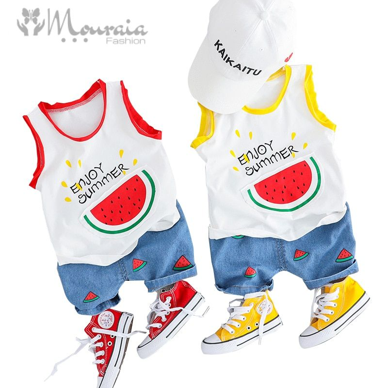 2019 Summer Baby Boy Clothes Set Watermelon T Shirt Shorts Kids Clothes Suit Baby Set Infant Clothing Baby Girl Clothes Outfit