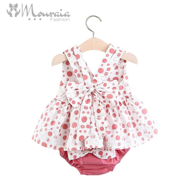 New Summer Baby Girl Clothes Bow Cotton Baby Girl Outfit Tops and Shorts Infant Clothing Set Newborns Clothes 2PCS/Set