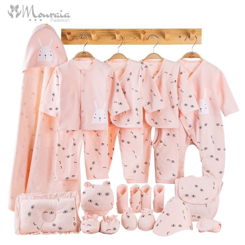 Newborn Cotton Baby Outfit Gift Set with Cute Print