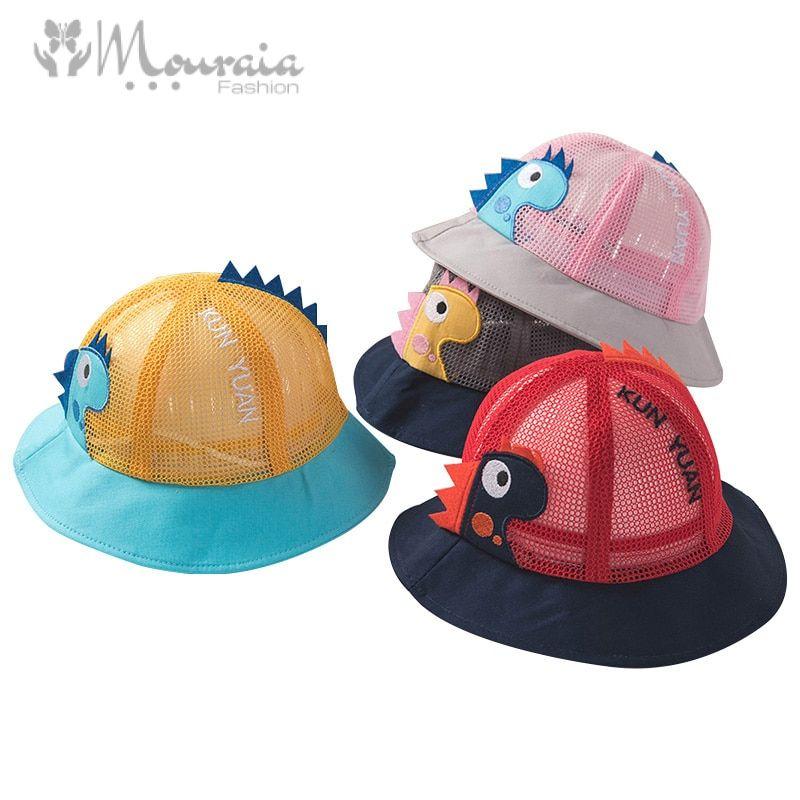 Dinosaur Baby Hat for Girls Cotton Mesh Baby Summer Hat Spring Autumn Baby Cap for Boy Panama Children Hats Kids Caps