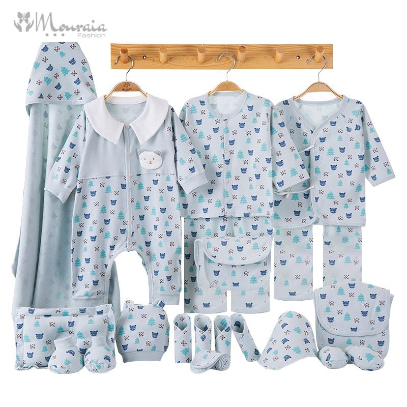Cartoon Newborn Clothes Baby Gift Set Cotton New Born Baby Girl Boy Clothes Infant Clothing Baby Outfit Newborn Set No Box