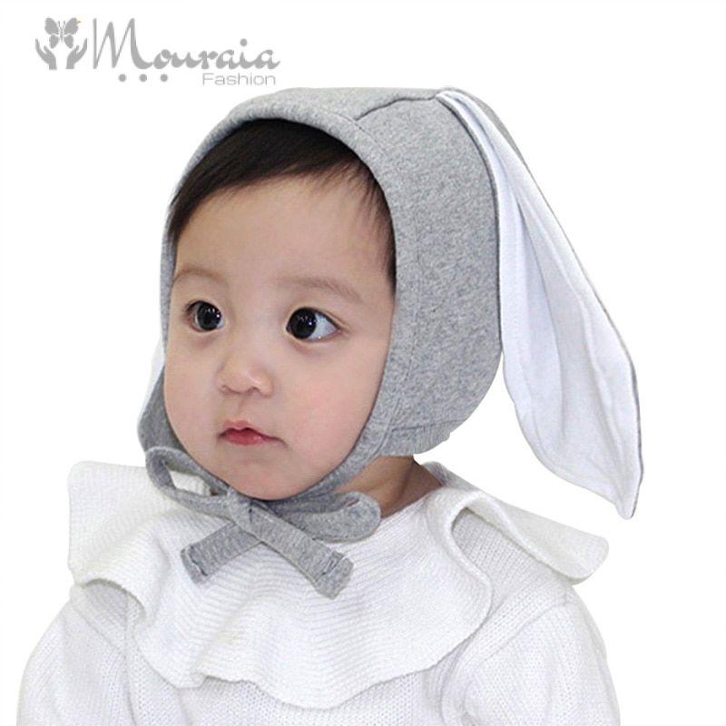 Cute Rabbit Baby Hat Long Ears Newborn Photography Props Kids Cap Adjustable Cotton Baby Bonnet Cap for Boy Girl Accessory