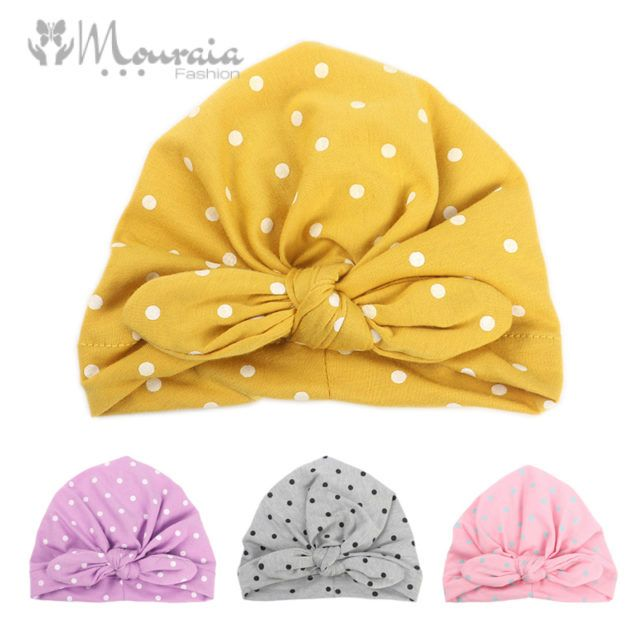 Fashion Baby Girl Hat with Bow Candy Color Infant Baby Beanie Cap Accessories