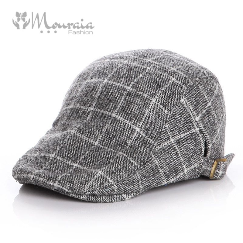 Woolen Baby Hat Winter Plaid Kids Cap Classic Baby Boy Hat Accessories Beret Hats for Babies