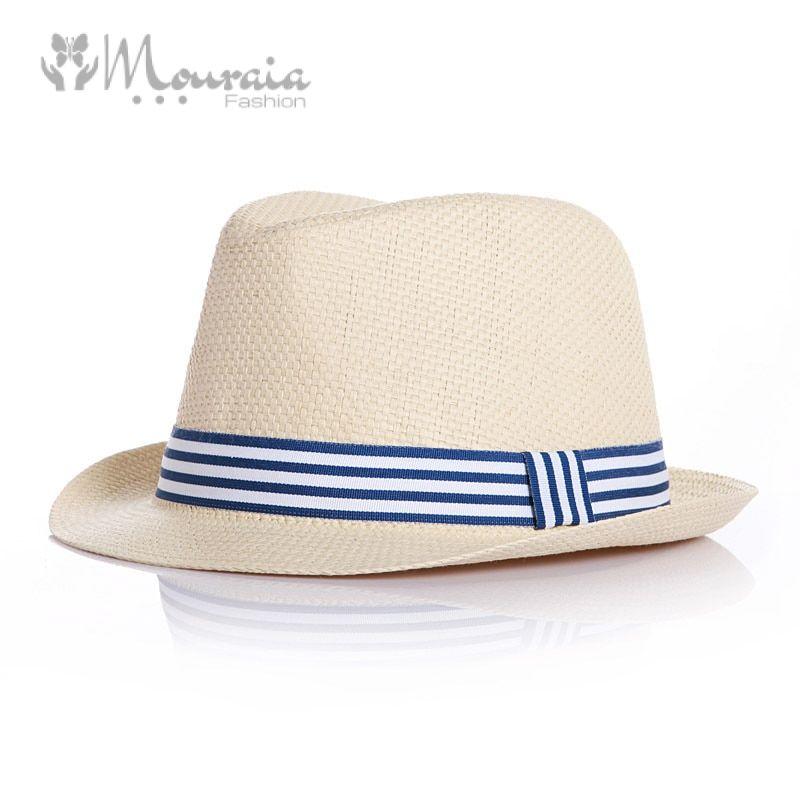 Fashion Summer Baby Hat Brief Straw Kids Fedora Hats for Boys Girls Children Jazz Cap Baby Accessories Blue/Pink