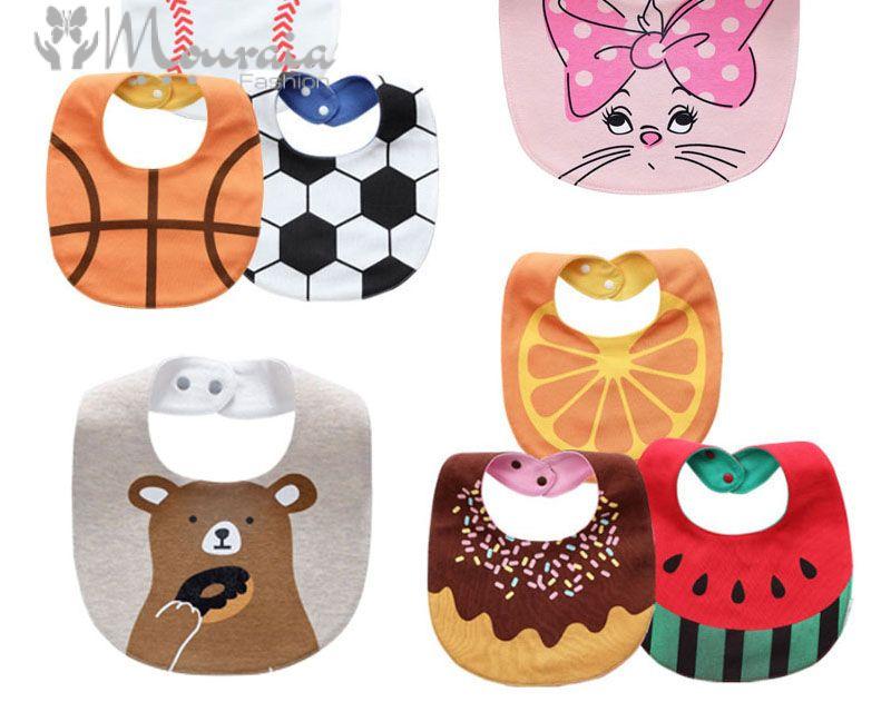 20 Design Baby Bibs Waterproof Cartoon Babador Infantil Cotton Bandana Bib Baby Accessories 1 PC