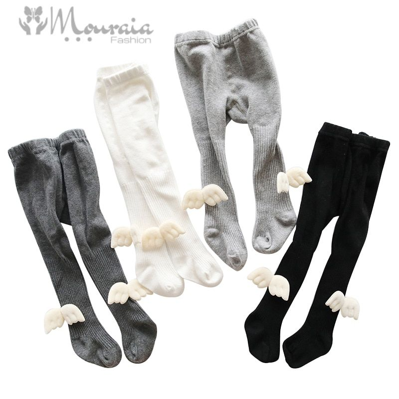 Fashion Wings Baby Tights for Girls Boys Crawl Knee Protector Tights Kids Pantyhose Cotton Children Girls Tights 1PC