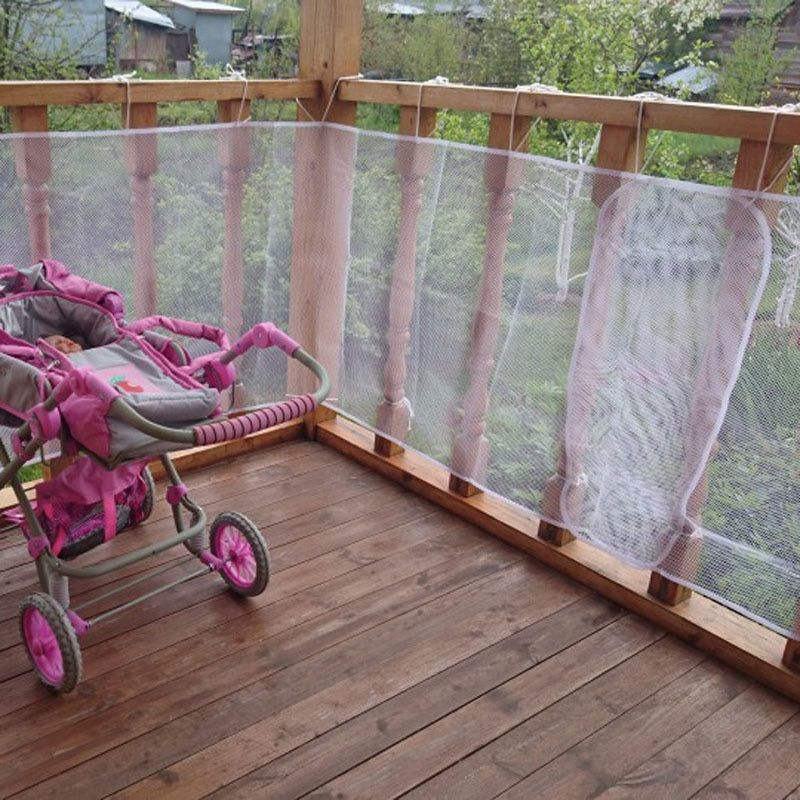 Railing Stairs Balcony Safety Protecting Net Baby Safety Fence Child Safety Products 2/3 Meters White Color