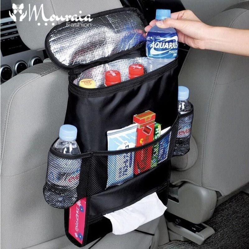 Multifunction Organizer for Strollers and Car Seats with Waterproof Baby Bottle and Thermal Bag