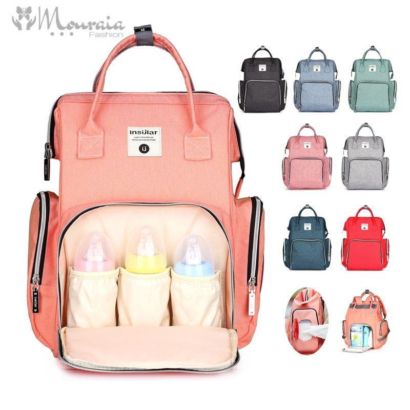Fashion Diaper Bag Waterproof Baby Bag for Stroller Large Capacity Backpack for Moms Dad Nappy Bag Bolsa Maternidade