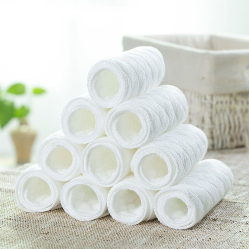 Safe Soft Baby Diaper Cotton Reusable Infant Cloth Nappy White Washable Baby Nappies 5 Pcs/Lot