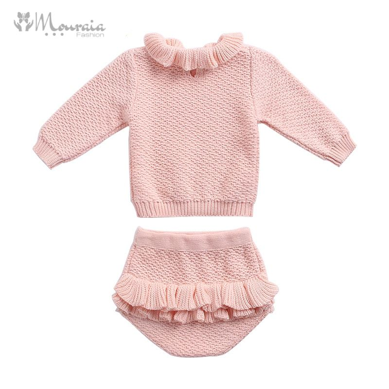 Kids Outfit Set with Knit Sweater and Shorts