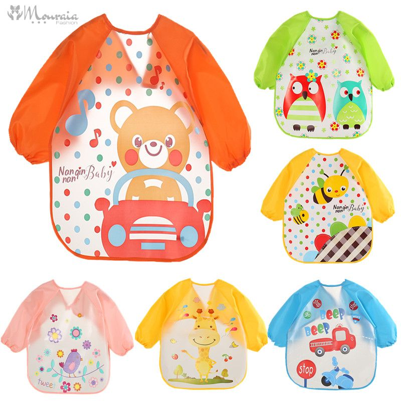 Baby's Long Sleeved Printed Polyester Bib