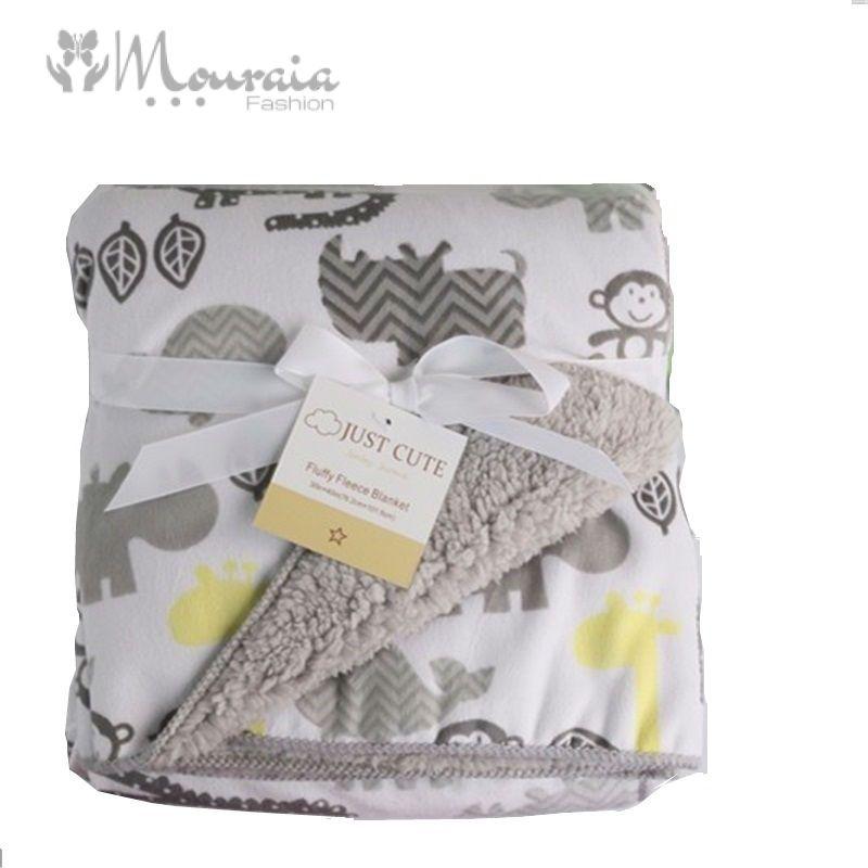 Warm Soft Double Layer Fleece Baby Blanket