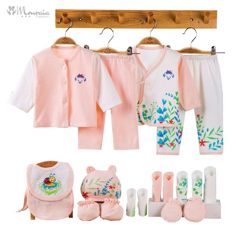 Print Newborn Baby Boy Clothes Soft Cotton Baby Girl Outfit Infant Clothing New Born Baby Girl Clothes Set Gift