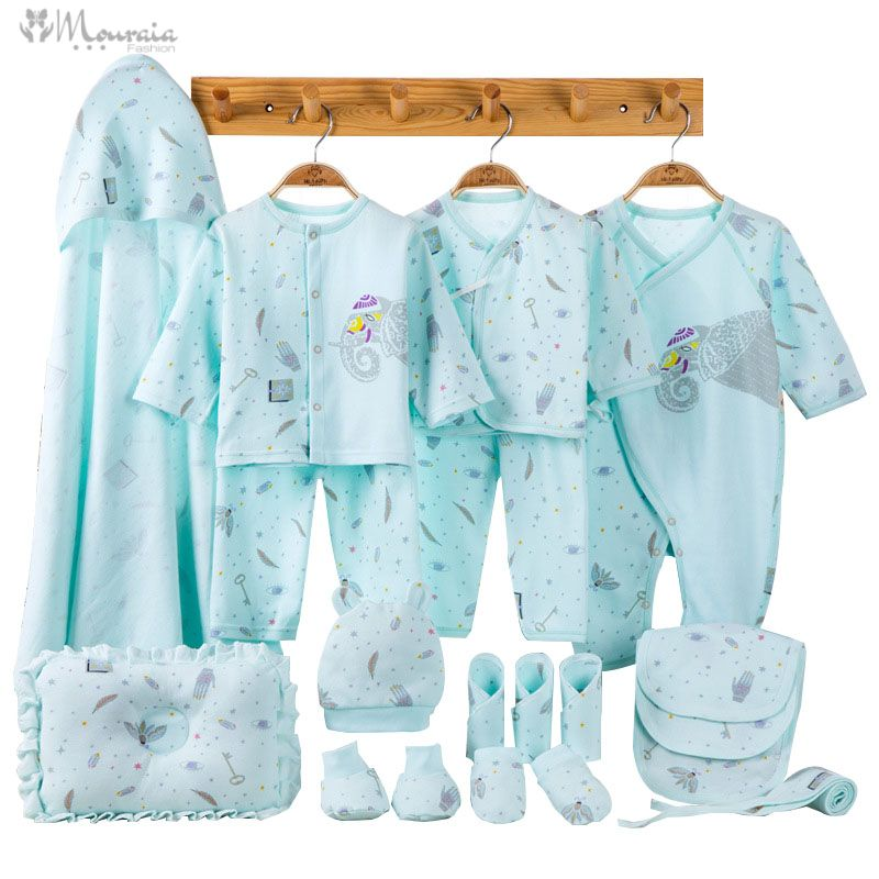 Elephant Newborn Baby Girl Clothes Cotton Print New Born Baby Boy Clothes Infant Clothing Baby Outfit Newborn Set