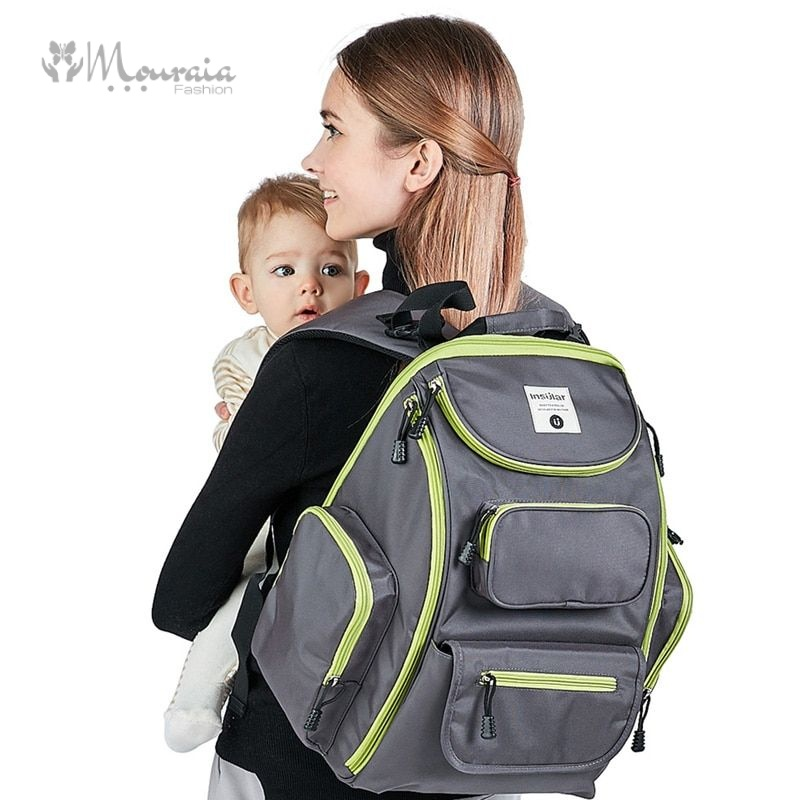 New Diaper Bag for Mom Dad Waterproof Maternity Backpack Nappy Bag Large Capacity Multifunction Mummy Baby Care Bag for Travel